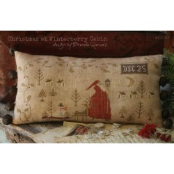 Christmas Winterberry Cabin. With Thy Needle and Thread