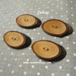 Botones Natura - Cerezo ovalado 4/u. N015