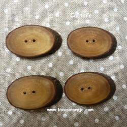 Botones Natura - Castaño ovalado 4/u. N017