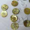 Botón de nácar circular amarillo/oro 11 mm - 6/u