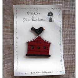 Casita de pájaros Roja - Le p'tit bûcheron