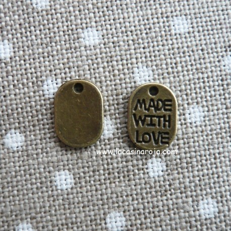 Charm made with love bronce