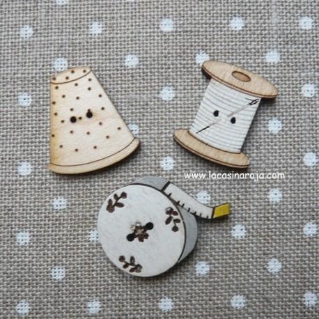 Botones costura pack010 Blanco - ADE