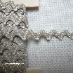 Cinta zigzag de lino bicolor blanco- CM
