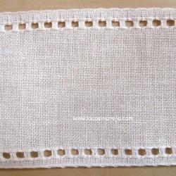 Banda de Lino Zweigart blanco roto. 8,5 cm