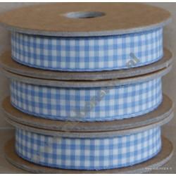 Cinta de cuadros Vichy azul claros gh12610