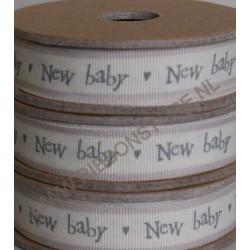 Cinta ?New baby? crema / raya rosa st12320