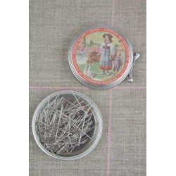 Alfileres Sajou de costurera de acero extra-finas nº4. Caja de metal Paimpol 002