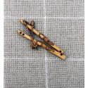 Botón de madera esquíes - ADE