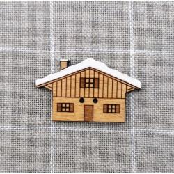 Botón de madera casita de montaña - ADE