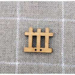 Botón de madera valla- ADE