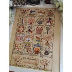 Shabby Autumn Calendar. Cuore e Batticuore 54