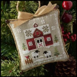 Farmhouse Christmas. Little red barn 1/9. LHN