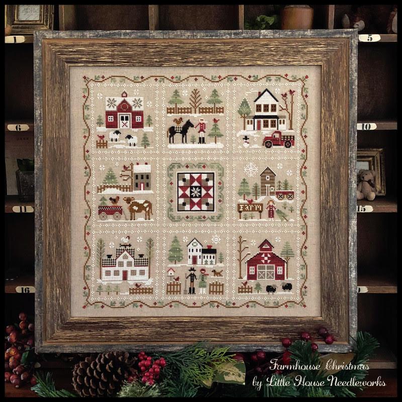 Farmhouse Christmas-Little Red Barn~Little House Needleworks