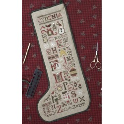 Christmas Thoughts Stocking + abalorios, charms y lazos - The Drawn Thread