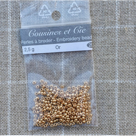 Or 2901. Perlas para bordar. Cousines et Cie