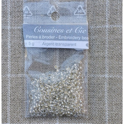 Transparent Plata 3903. Perlas para bordar. Cousines et Cie
