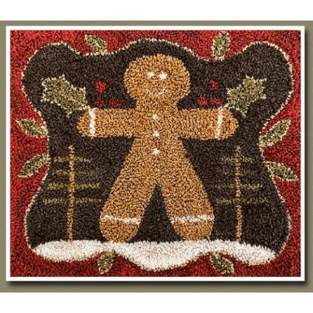 Punch Needle: Gingerbread man. LHNpn015