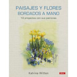 Paisajes y flores bordados a mano. Katrina Witten