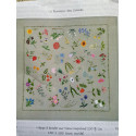 Mantel Flores bordado tradicional. Kit completo 150 x 150