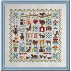 Patchwork aux Chats. FT54 JP