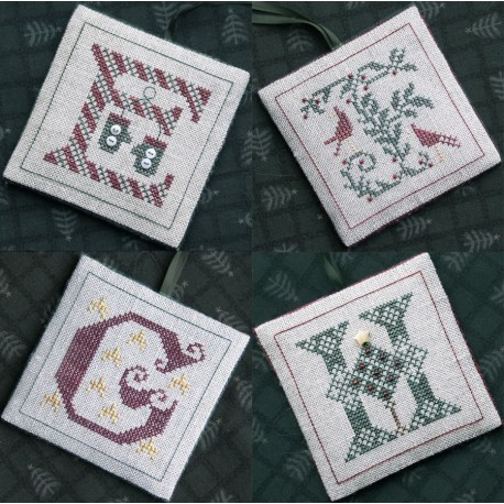 Alphabets Ornaments Two (E, F, G and H) - The Drawn Thread