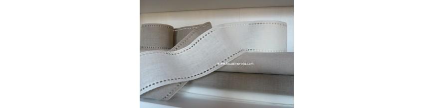 Bandas de lino para bordar