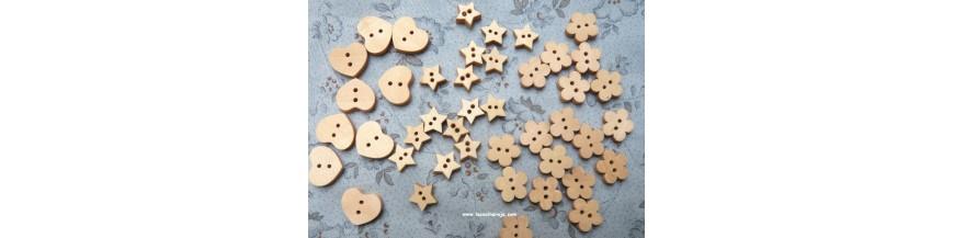 Botones de Madera Tallados