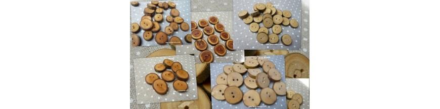 Botones Natura (madera natural)